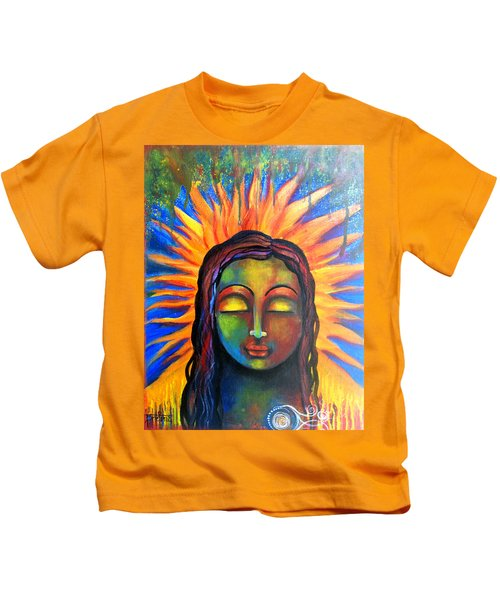 Illuminated By Her Own Radiant Self Kids T-Shirt