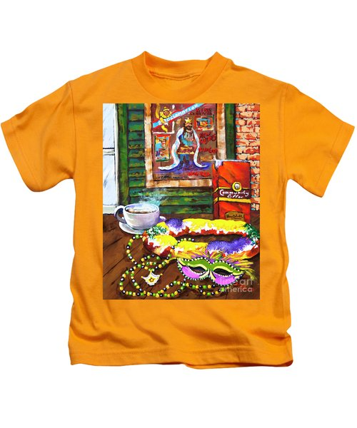 It's Mardi Gras Time Kids T-Shirt
