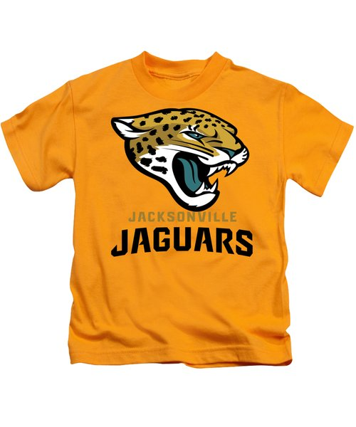 Jacksonville Jaguars On An Abraded Steel Texture Kids T-Shirt