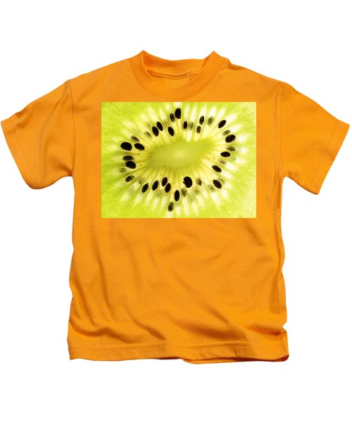 Kiwi Fruit Kids T-Shirt by Paul Ge
