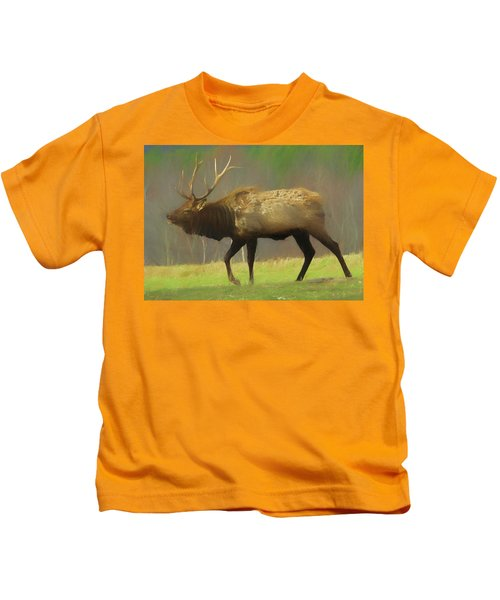Large Pennsylvania Bull Elk. Kids T-Shirt