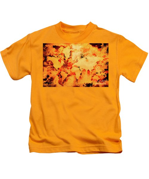 Lava World Map Kids T-Shirt