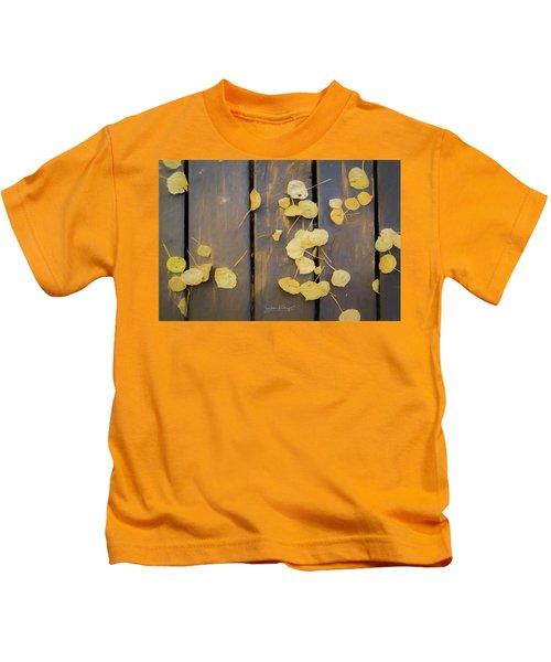 Leaves On Planks Kids T-Shirt