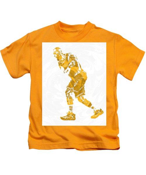 Lebron James Cleveland Cavaliers Pixel Art 13 Kids T-Shirt