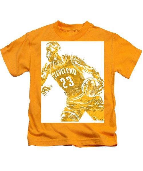 Lebron James Cleveland Cavaliers Pixel Art 20 Kids T-Shirt