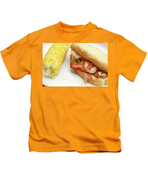 Lobster Roll And Corn On The Cob Kids T-Shirt