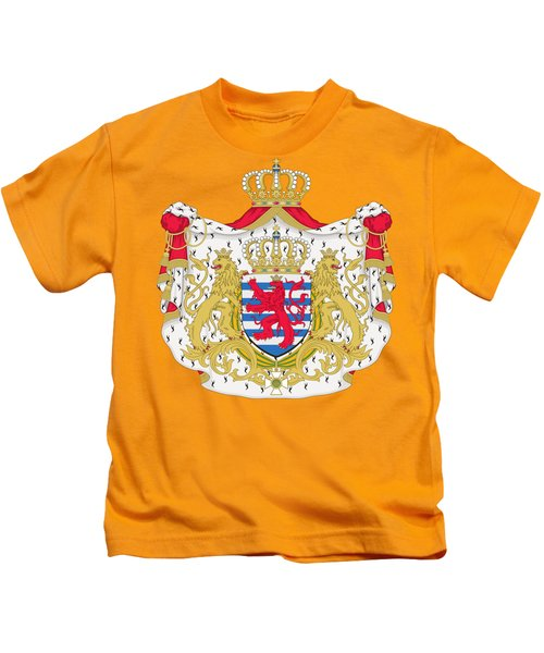 Luxembourg Coat Of Arms Kids T-Shirt