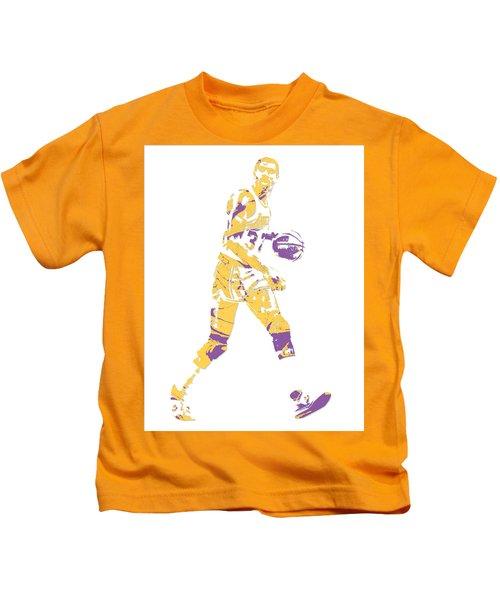 Magic Johnson Los Angeles Lakers Pixel Art 5 Kids T-Shirt