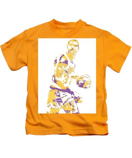 Magic Johnson Los Angeles Lakers Pixel Art 6 Kids T-Shirt