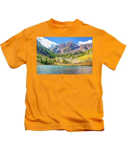 Maroon Bells Kids T-Shirt
