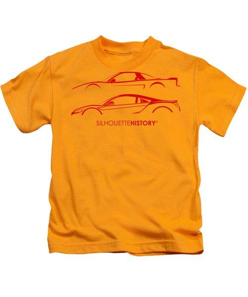 Mid-engine Japanese Silhouettehistory Kids T-Shirt