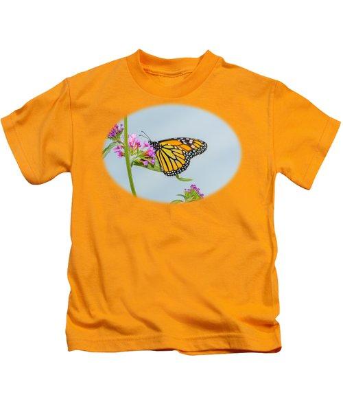 Monarch Butterfly Vignette Kids T-Shirt