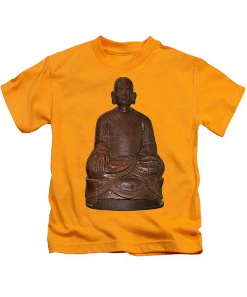 Monk Seated Kids T-Shirt