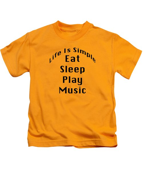 Music Eat Sleep Play Music 5508.02 Kids T-Shirt