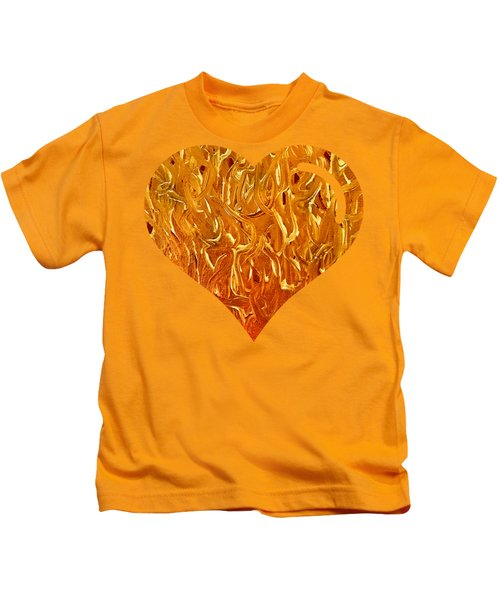 My Heart Is On Fire Kids T-Shirt