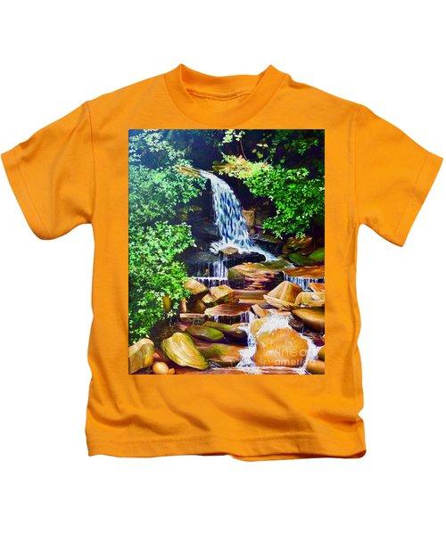 Nantahala Waterfall Kids T-Shirt