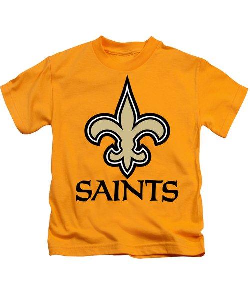 New Orleans Saints On An Abraded Steel Texture Kids T-Shirt e2b11b722