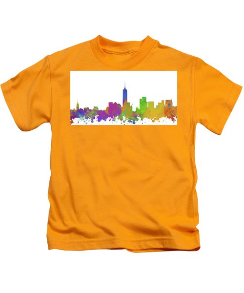 New York City Skyline Silhouette V Kids T-Shirt