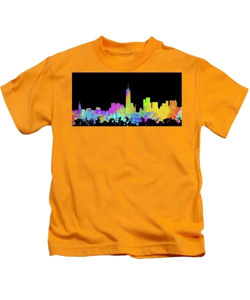 New York City Skyline Silhouette Vi Kids T-Shirt