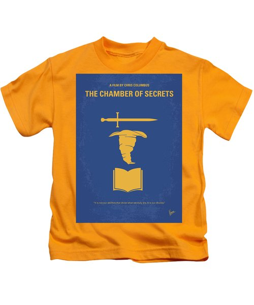 No101-2 My Hp - Chamber Of Secrets Minimal Movie Poster Kids T-Shirt