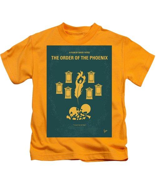 No101-5 My Hp - Order Of The Phoenix Minimal Movie Poster Kids T-Shirt