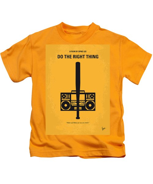 No179 My Do The Right Thing Minimal Movie Poster Kids T-Shirt