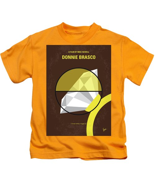 No766 My Donnie Brasco Minimal Movie Poster Kids T-Shirt by Chungkong Art
