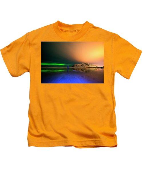 Northern Light In Lofoten, Nordland 4 Kids T-Shirt