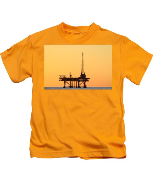 Offshore Oil And Gas Platform  Kids T-Shirt