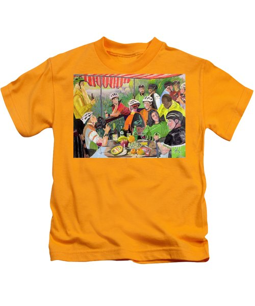 Oil- Luncheon Of The Cycling Party Kids T-Shirt