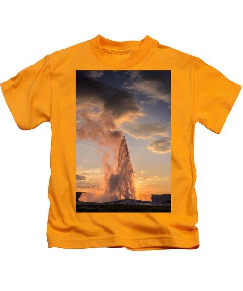 Old Faithful Yellowstone Kids T-Shirt