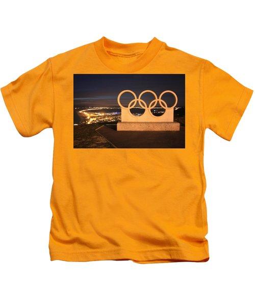 Olympic Rings Portland  Kids T-Shirt