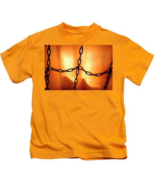 Orange With Black Chains In Seattle Washington Kids T-Shirt