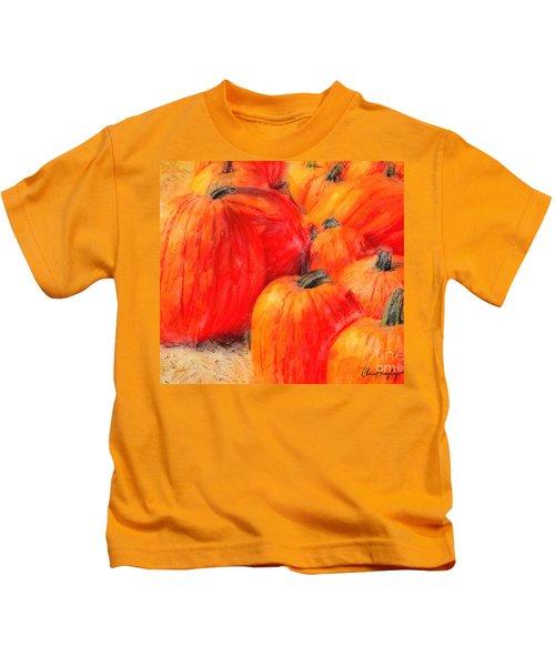 Painted Pumpkins Kids T-Shirt
