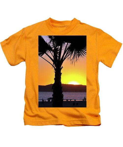 Palm At Sunset Kids T-Shirt