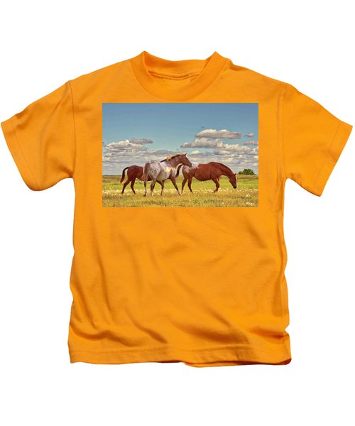 Party Of Three Kids T-Shirt