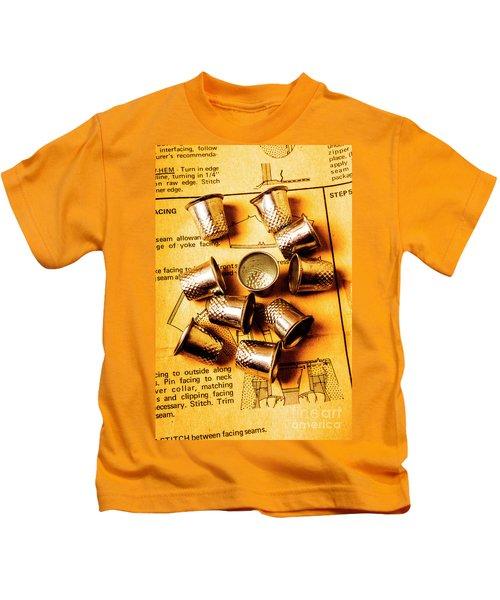 Patterns And Thimbles Kids T-Shirt