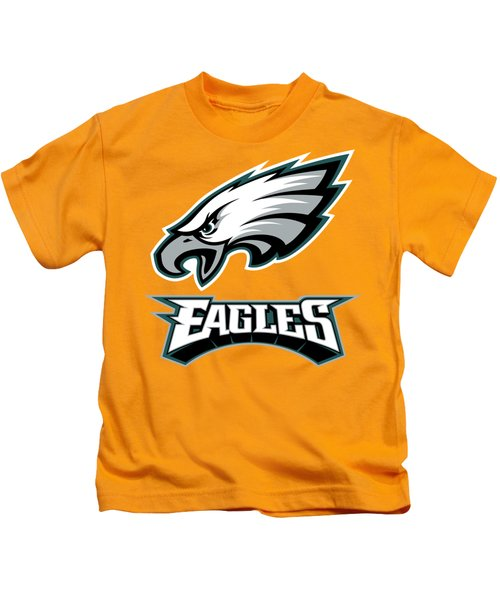 Philadelphia Eagles On An Abraded Steel Texture Kids T-Shirt