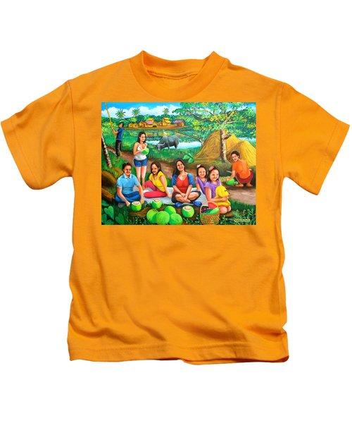 Picnic At The Farm Kids T-Shirt