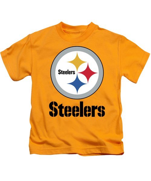Pittsburgh Steelers On An Abraded Steel Texture Kids T-Shirt