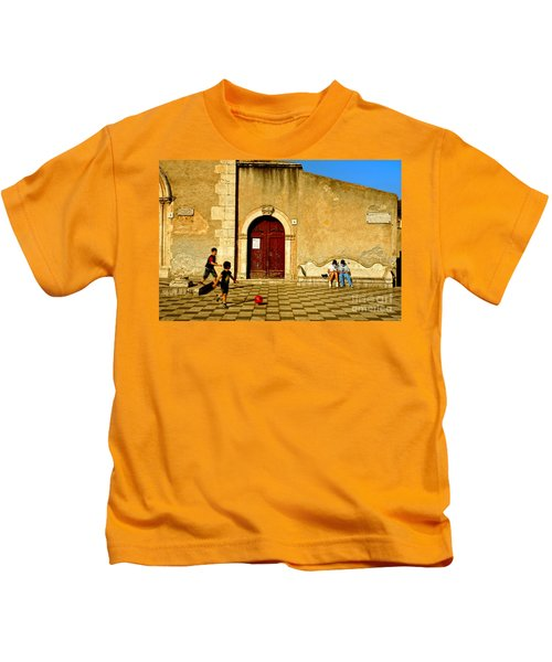 Playing In Taormina Kids T-Shirt