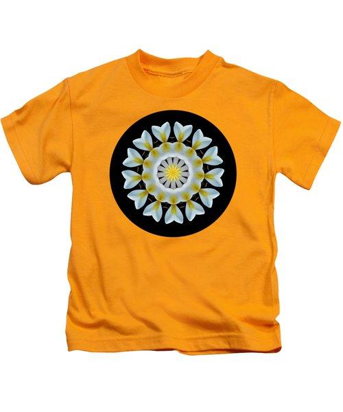 Plumeria Mandala By Kaye Menner Kids T-Shirt
