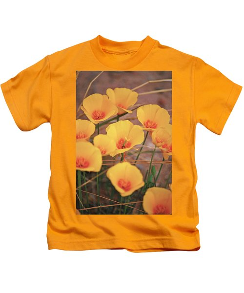 Poppies On Mount Lemmon Kids T-Shirt