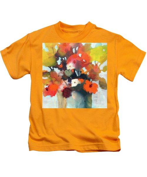 Pot Of Flowers Kids T-Shirt