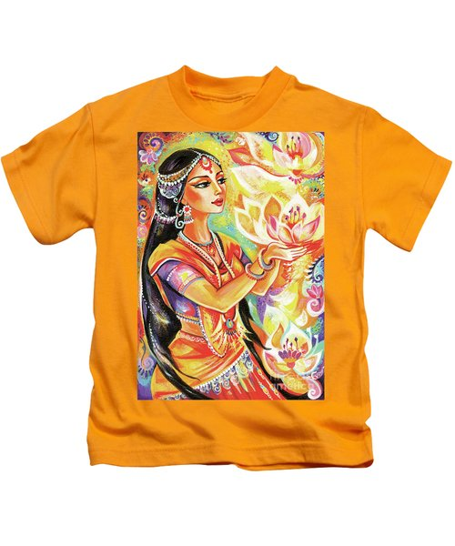 Pray Of The Lotus River Kids T-Shirt