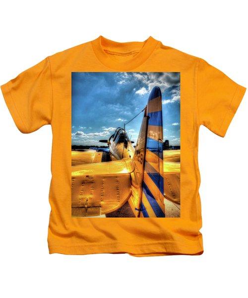 R C A F North American T-6 Texan  V5 Kids T-Shirt