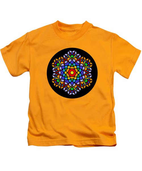 Rainbow Mandala By Kaye Menner Kids T-Shirt