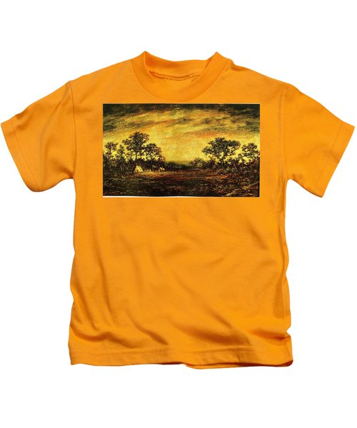 Ralph Blakelock, Indian Encampment Kids T-Shirt