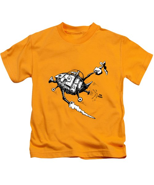 Rats In Space Kids T-Shirt by Kim Gauge