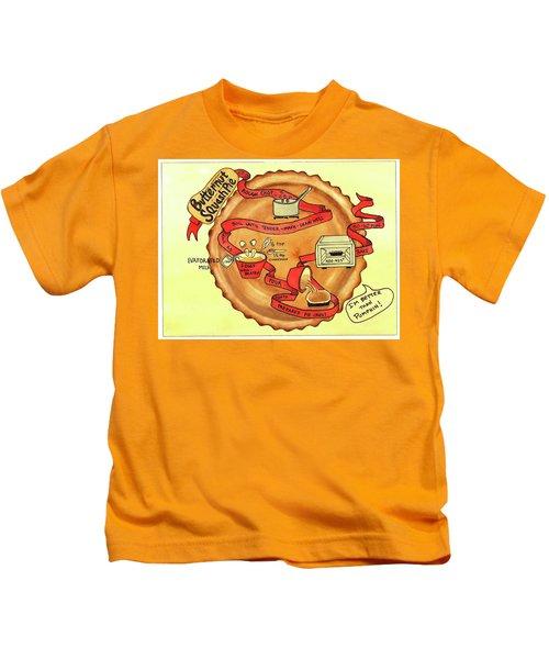 Recipe-butternut Squash Pie Kids T-Shirt